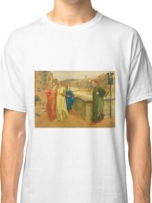 Vintage famous art - Henry Holiday - Dante And Beatrice 1882 Classic T-Shirt