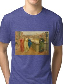 Vintage famous art - Henry Holiday - Dante And Beatrice 1882 Tri-blend T-Shirt
