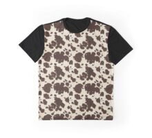 Brown & White Cowhide Graphic T-Shirt