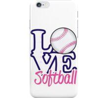Love Softball  iPhone Case/Skin