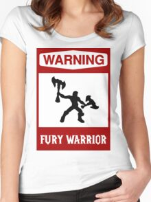 Warning: Fury Warrior Women's Fitted Scoop T-Shirt
