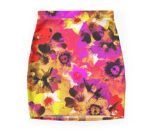 Screened Flowers Mini Skirt
