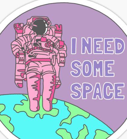 Introvert awkward tumblr space galaxy teen snapchat sticker print Sticker