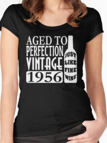 1956 Aged To Perfection Women's Fitted Scoop T-Shirt