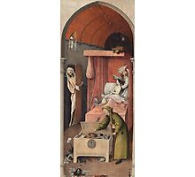 Hieronymus Bosch - Death And The Miser. 1485 Photographic Print