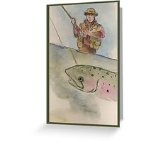 Flyfishing: The Battle Greeting Card