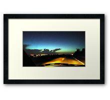 night sky colours  Framed Print