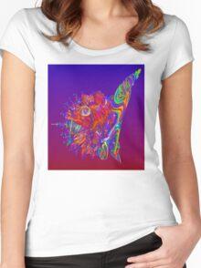 Alien Sea Creature Women's Fitted Scoop T-Shirt