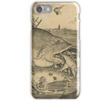 Hieronymus Bosch - The Big Fish Eat The Little Fish 1557 iPhone Case/Skin