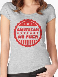 American As Fuck Women's Fitted Scoop T-Shirt