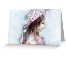 Girl in the Pink Hat Greeting Card
