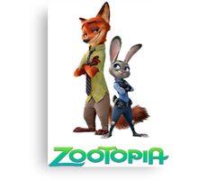 nick wilde and judy hopps Canvas Print