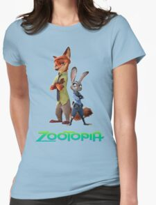 nick wilde and judy hopps Womens Fitted T-Shirt