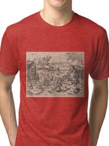 Hieronymus Bosch - The Temptation Of Saint Anthony 1561 Tri-blend T-Shirt
