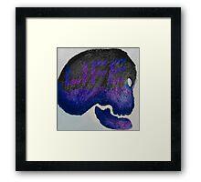galaxy skull Framed Print