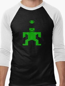 8 Bit Frankenstein Munster Men's Baseball ¾ T-Shirt