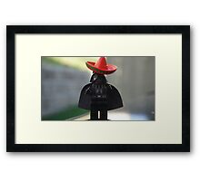 Sombrero Vader Framed Print