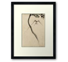 Hokusai Katsushika - A Tree Trunk With Branch And Leaves  Framed Print