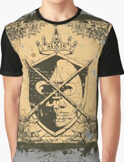 Heraldry Crown, Swords and Shield Graphic T-Shirt