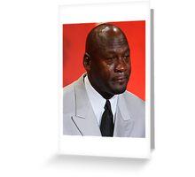Crying Michael Greeting Card