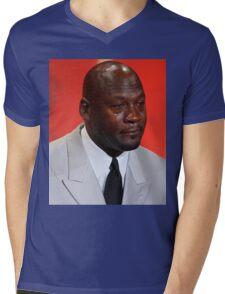 Crying Michael Mens V-Neck T-Shirt