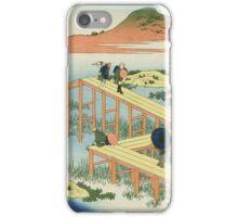 Vintage famous art - Hokusai Katsushika - Eight Part Bridge, Province Of Mucawa, Japan iPhone Case/Skin