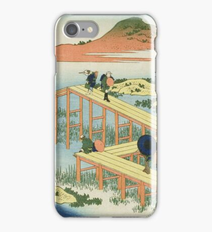 Vintage famous art - Hokusai Katsushika - Eight Part Bridge, Province Of Mucawa, Japan iPhone Case/Skin