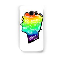 rainbow doctor who silhouette Samsung Galaxy Case/Skin