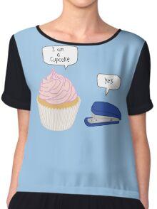 Cupcake & Stapler Chiffon Top
