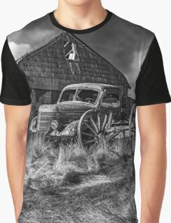 Old Wheels - BW Graphic T-Shirt