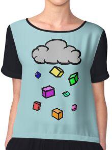 Cubic Rain Chiffon Top