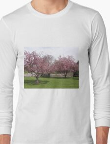 The cherry trees in full bloom Long Sleeve T-Shirt