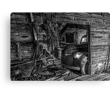Tuckered Away - BW Canvas Print