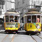 Trams in Lisbon by Igor Shrayer