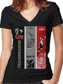 urban nation2 Women's Fitted V-Neck T-Shirt