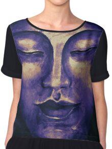 Purple Buddha face Chiffon Top