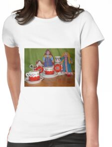 Russian Doll Tea Time Womens Fitted T-Shirt