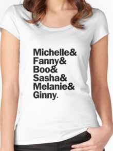 Bunheads - Michelle & Fanny & Boo & Sasha & Melanie & Ginny | White Women's Fitted Scoop T-Shirt
