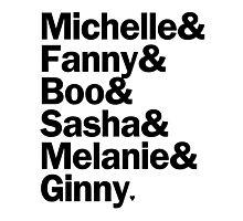 Bunheads - Michelle & Fanny & Boo & Sasha & Melanie & Ginny   White Photographic Print