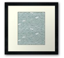 Little Paperboats Framed Print