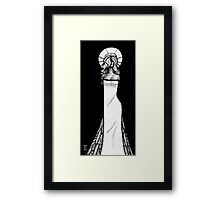 Woman pen sketch Framed Print