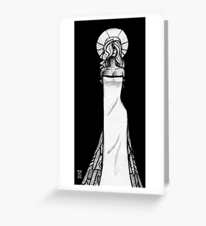Woman pen sketch Greeting Card