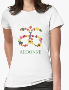 Arbonne Logo  Womens Fitted T-Shirt