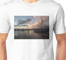 Boats and Clouds - Waikiki, Honolulu, Hawaii Unisex T-Shirt