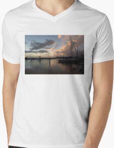 Boats and Clouds - Waikiki, Honolulu, Hawaii Mens V-Neck T-Shirt