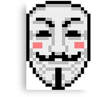 V For Vendetta - Mask Canvas Print
