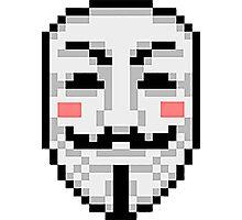 V For Vendetta - Mask Photographic Print