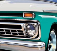 Slick 60's - Caribbean Turquoise Sticker