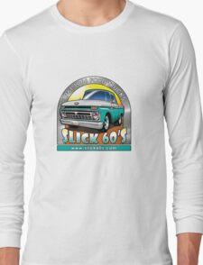 Slick 60's - Caribbean Turquoise Long Sleeve T-Shirt