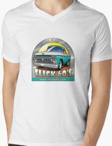 Slick 60's - Caribbean Turquoise Mens V-Neck T-Shirt